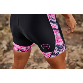 Zone3 Activate Plus SS Trisuit Women zebra fly-black/green/pink/white